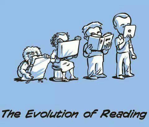 a evolução da leitura